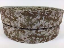 "BTY 7/8"" Digital Military Camo Lt Brown Grosgrain Ribbon Hair Bows Lisa"
