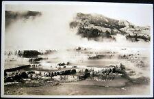 YELLOWSTONE NATL PARK WY~1936  JUPITER TERRACE SUMMIT ~ HAYNES RPPC