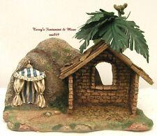 "Fontanini Italy 2.5""Stable w/Palm & King'S Tent Nativity Village Scene 50222 Nib"
