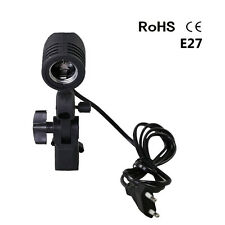 E27 Socket Lamp Bulb Holder Studio Photography Lighting Umbrella Swivel Adapter