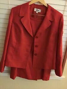 2 piece woman's suit/ rose red