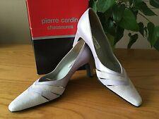 Pierre Cardin Lila Tribunal Zapatos De Gamuza Cuero UK 4 EU 37 RRP £ 54.99 nupcial