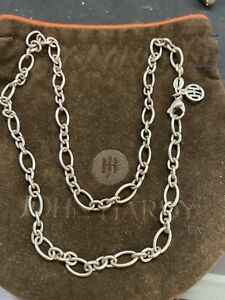 """John Hardy Sterling Silver Chain Link Necklace 18"""" With Dust Bag"""