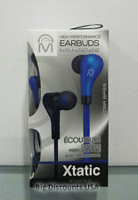 Mental Beats Xtatic High Performance Extra Bass Earbuds With Microphone - Blue