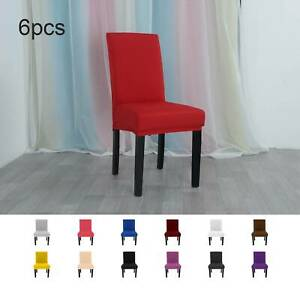 6xDining Chair Covers Washable Stretch Chair Slipcover Removable Chair Protector