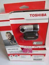 TOSHIBA USB Webcam 640 x 480 pixel to 1.3 Milion,Versatile clip Windows Notebook