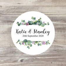 Personalised Stickers, Wedding Stickers, Wedding Favours, Labels, Floral Wedding