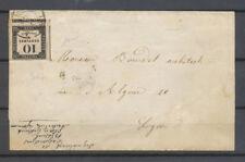 JANVIER 1859, Taxe 10c LITHO (trois voisins, marges énormes) obl C 15 Lyon X4658