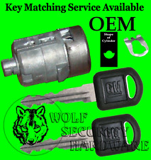 Chevy GM OEM Single Door Key Lock Cylinder 2 Keys 702912 Key Matching Offered