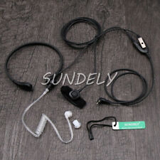 Throat Mic Headset/Earpiece Finger PTT For Uniden Radio UH065 UH710 UH720 UH820