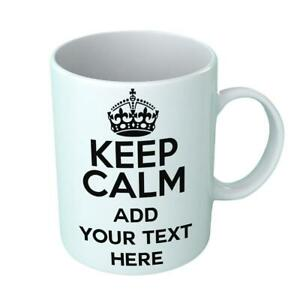 PERSONALISED Keep Calm And Novelty WORDS Your Text Here Gift Mug Put Printed