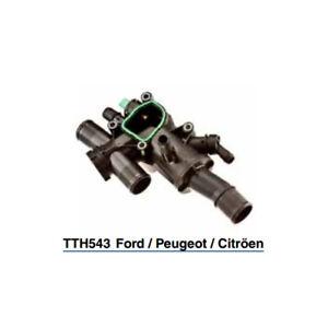 Tru-Flow Thermostat & Housing TTH543 fits Peugeot 407 2.0 HDi (103kw), 2.0 HD...