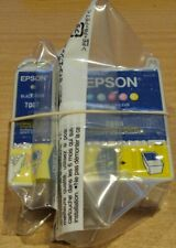 Pair of GENUINE EPSON T007 Black & T008 colour cartridges ORIGINAL vac' seal ink