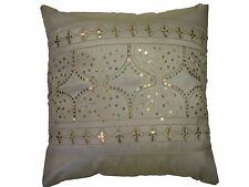 SHIMMERY TWINKLING SEQUIN SPARKLES CREAM SILK CUSHION COVER £4.99 FREE POSTAGE