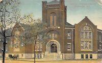 Hammond Indiana 1913 Postcard Christian Church