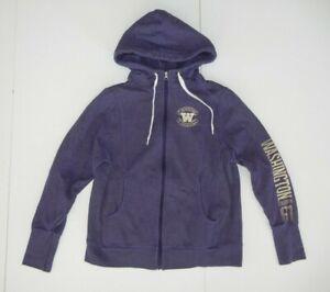 Champion WASHINGTON HUSKIES UW Football ZIP HOODIE Sweatshirt Jacket Sz Women L