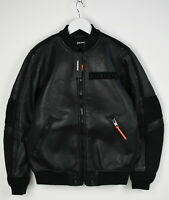 RRP €650 DIESEL L-YUTAKIS Men's SMALL Leather With Scuba Fabric Jacket 9590_mm