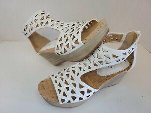 Baretraps Miriam Womens Shoes, White, Size 9.5 M Wedge Platform Sandals MSRP $69