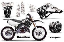 Dirt Bike Decal Graphics Kit Wrap For Kawasaki KX125 KX250 1999-2002 REAPER WHT