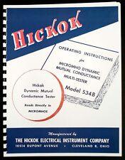 Hickok 534B Dynamic Mutual Conductance Tube Tester Manual