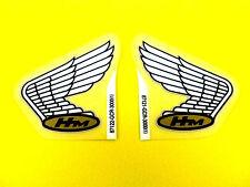 New Custom Cafe Chopper Bobber Honda Wing Emblems Decals OEM CB50R E0041 E0041
