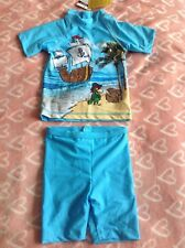 Factory Seconds Rash Top BOYS PIRATE TOGS MICKEY MOUSE RASHI Sz 2 3 or 4