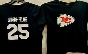 0916 BOYS Youth Kansas City Chiefs CLYDE EDWARDS-HELAIRE Jersey Shirt BLACK New