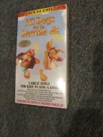 All Dogs Go To Heaven 2 VHS Blockbuster Video Promo MGM/UA Sings 3 Songs sealed