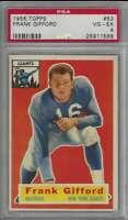 1956 Topps #53 Frank Gifford PSA 4 NY Giants