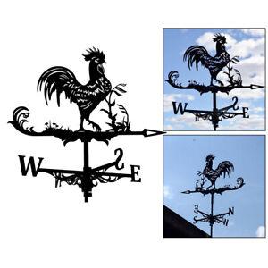 Rooster Weathervane Weather Vane Wind Direction Indicator Outdoor Barn Decors