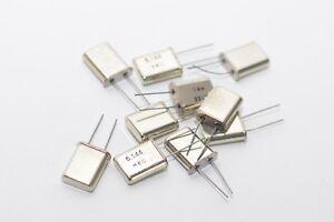 10x Quartz/Standardquarz, Grundton 6.144 MHZ, Mec ,Housing HC49U, NOS