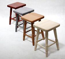 NEW BEECH SOLID WOOD KITCHEN BREAKFAST BAR WOODEN STOOL CHAIR H: 1.5 ft (46 cm)
