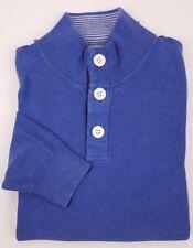 Vineyard Vines XS Pullover Sweater Blue Mens Size Pima Cotton 3 Button Mock Neck