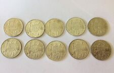 10 X 1966 Round 50 cent coins Australian Silver Coins