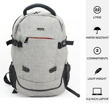 "15.6"" Laptop Backpack Bag Case Rucksack for Asus, Lenovo, HP, Dell, Sony Grey"