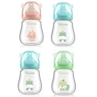 POTATO Newborn Baby Bottles Feeding Slow Flow Baby Glass Bottle 150ml/5oz 3Color