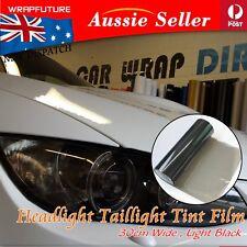 Light Black Smoke Headlight Tint Film Tail Rear Fog Light Sheet Decals 30cm x 2M