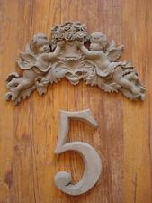 Stucco - Hausnummer - Schmuckelement Engel -Zahl - frei wählbar - Beton 120-439B