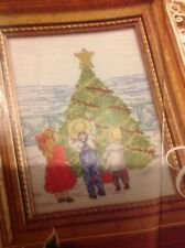 (X4) All Our Yesterdays Children And Xmas Tree Christmas Cross Stitch Chart