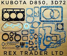 Kubota D850, 3D72 Gasket kit Complete 3 Cyl 72mm Diameter Asbestos sheet B1550