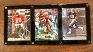 JERRY RICE 3 CARD PLAQUE MISSISSIPPI VALLEY STATE SAN FRANCISCO 49ERS RAIDERS