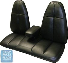 1971 Barracuda / Cuda Standard Black Front Bench W/ Armrest Seat Covers - PUI