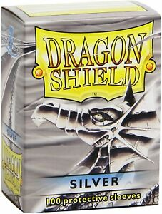 Dragon Shield Sleeves (100-Pack), Silver