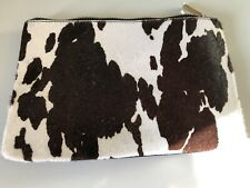 Topshop Cowhide (faux) And Leather Clutch - Used Once