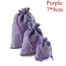 Natural Burlap Bags Jute Hessian Drawstring Sack Small Wedding Favor Gift Pouch
