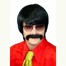 60's and 70's Mod Guy Black Men's Costume Wig