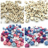 100pcs Cube wood color multicolor wooden beads @ # symbol spacer bead 10x10mm