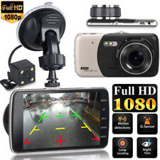 "4"" Dual Lens Camera HD 1080P IPS Car DVR Video Dash Cam Recorder G-Sensor MA1594"