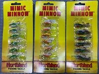 "NORTHLAND 2"" Mimic Minnow Glow Chub, Glow Sunfish And Bluegill Shad Jig/Swimbait"