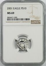 2001 Platinum Eagle $10 Tenth-Ounce MS 69 NGC 1/10 oz Platinum .9995